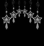 Decorative Christmas Stars in black and white Stock Photo