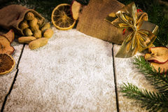 Decorative christmas table Royalty Free Stock Photography