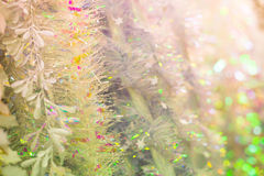 Decorative Christmas tinsel Stock Photography
