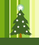 Decorative Christmas tree royalty free illustration