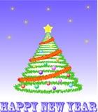 Decorative christmas tree Stock Photo