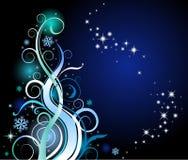 Decorative Christmas tree. Illustration of Decorative Christmas tree with free space for text Royalty Free Stock Images