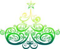 Decorative christmas tree Royalty Free Stock Photography