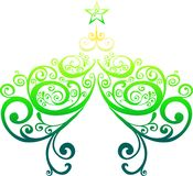 Decorative christmas tree Stock Images