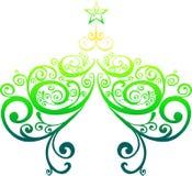 Decorative christmas tree Stock Images