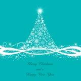 Decorative Christmas tree background Stock Photos