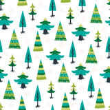 Decorative christmas tree fir seamless pattern. Light decorative christmas tree fir seamless pattern Stock Image