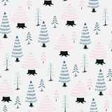 Decorative christmas tree fir seamless pattern. Light decorative christmas tree fir seamless pattern Stock Photos