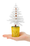 Decorative christmas tree in hand Royalty Free Stock Image