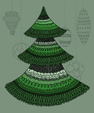 Decorative Christmas tree Royalty Free Stock Images