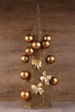 Decorative Christmas tree stock photos