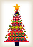Decorative Christmas Tree. A pretty Christmas tree with baubles Royalty Free Stock Photos