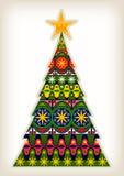 Decorative Christmas Tree. A pretty Christmas tree greetings card design Royalty Free Stock Photo