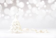 Decorative christmas tree with ribbon Royalty Free Stock Photography