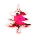 Decorative Christmas tree silhouette Royalty Free Stock Photos