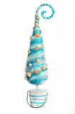 Decorative Christmas tree stylized sea on a white background Royalty Free Stock Images