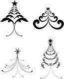 Decorative christmas trees Stock Photography