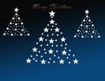 Decorative christmas trees Royalty Free Stock Photo