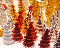Decorative Christmas trees stock photo