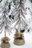 Decorative Christmas Trees Stock Photos