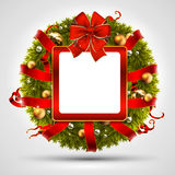 Decorative Christmas wreath Stock Image