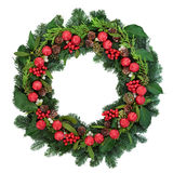 Decorative Christmas Wreath Royalty Free Stock Photo