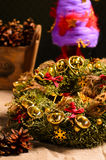 Decorative christmas wreath Royalty Free Stock Photos