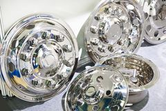 Decorative Chrome Hub Caps For Trucks Stock Photos