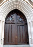 Decorative church door Stock Photo