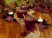 Decorative cider glasses Stock Images