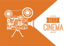 Decorative cinema template. royalty free stock photography