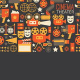 Decorative cinema template. Royalty Free Stock Photo