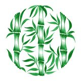 Decorative circle bamboo Royalty Free Stock Photo