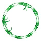 Decorative circle bamboo Stock Image