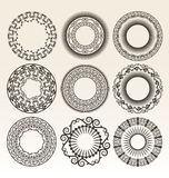 Decorative circle borders Royalty Free Stock Image