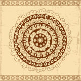 Decorative circle card background Stock Photography