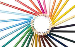 Decorative circle by color pencils Stock Image