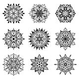 Decorative circle design elements Royalty Free Stock Photos