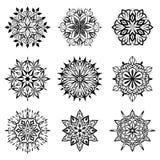Decorative circle design elements Royalty Free Stock Photos