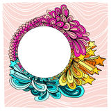 Decorative circle frame Royalty Free Stock Photo