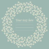 Decorative circle frame with flowers and butterflies Royalty Free Stock Photography