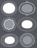 Decorative circle labels suitable for design Royalty Free Stock Images