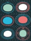 Decorative circle labels,vector Royalty Free Stock Photos