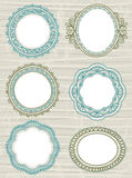 Decorative circle labels,vector Royalty Free Stock Image