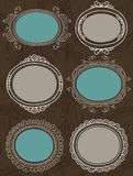 Decorative circle labels,vector Stock Photos