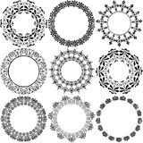 Decorative Circle stamp embellishments Stock Photos
