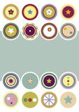 Decorative Circles Backgroud Royalty Free Stock Images