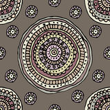 Decorative circles pattern Stock Images