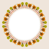 Decorative circular autumn ornament with space for text Stock Photography