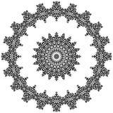 Decorative circular pattern royalty free illustration